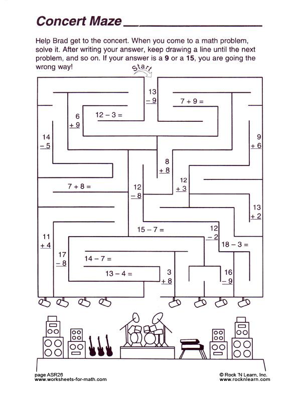 Math Mazes Worksheets Davezan – Math Maze Worksheet