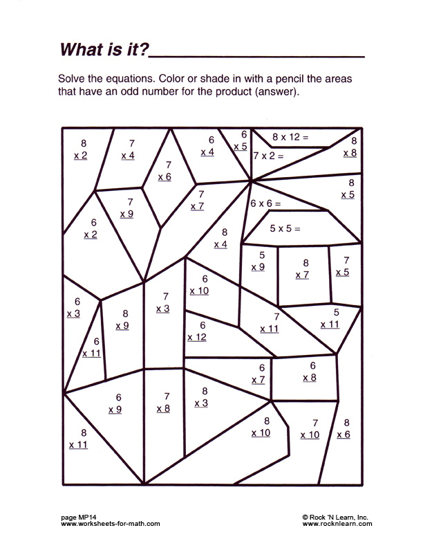 Free Math Coloring Pages Printable